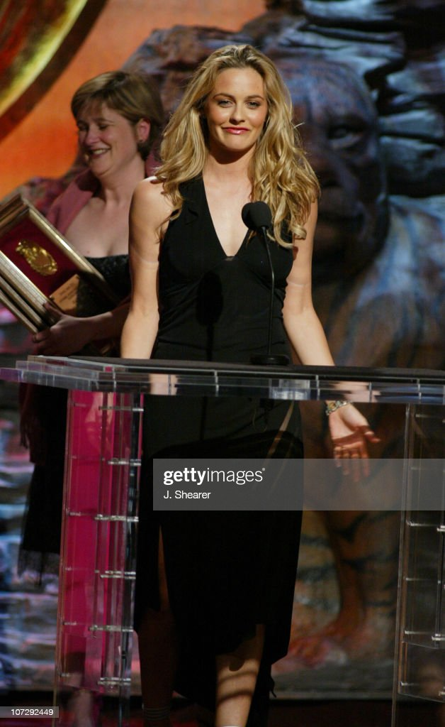 Executive Producer <a gi-track='captionPersonalityLinkClicked' href=/galleries/search?phrase=Alicia+Silverstone&family=editorial&specificpeople=202861 ng-click='$event.stopPropagation()'>Alicia Silverstone</a> accepts the Genesis Award for Children's TV Series for 'Braceface'