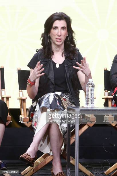 Executive producer Aline Brosh McKenna of 'Crazy ExGirlfriend' speaks onstage during the CW portion of the 2017 Summer Television Critics Association...