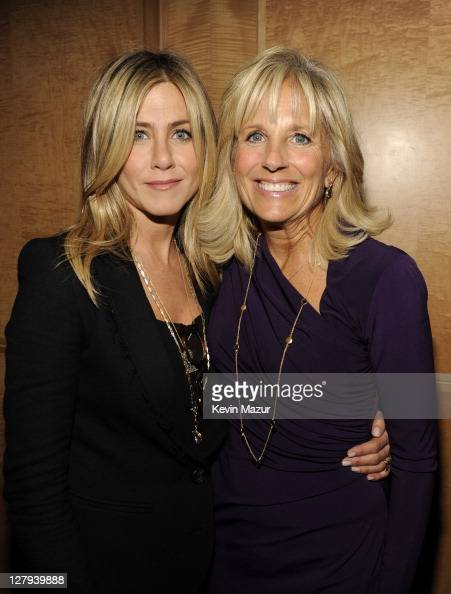 Executive Producer and Director Jennifer Aniston and Dr Jill Biden attend the red carpet screening in the nation's capitol for the TV movie event...