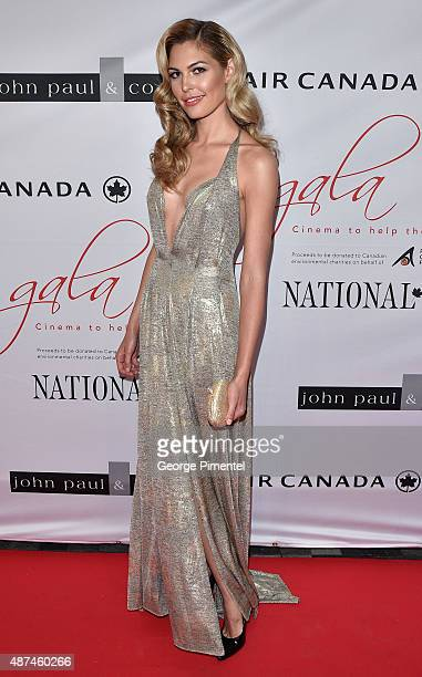 Executive Producer and former Miss Universe Canada Elena Semikina attends the 2015 Toronto International Film Festival 'AMBI Gala' at the Four...