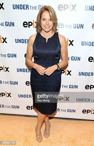 Executive Producer and Narrator Katie Couric attends the UNDER THE GUN DC premiere featuring Katie Couric and Valerie Jarrett at the Burke Theater at...