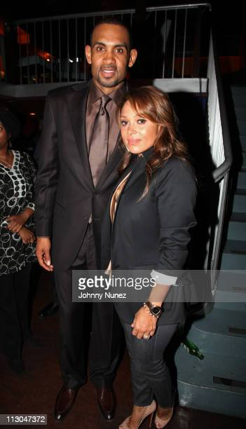 Executive Producer and NBA Player Grant Hill and wife recording artist Tamia Hill attend the premiere of 'Starting at the Finish Line The Coach...