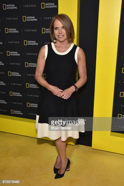 Executive Producer and TV Personality Katie Couric at National Geographic's Further Front Event at Jazz at Lincoln Center on April 19 2017 in New...