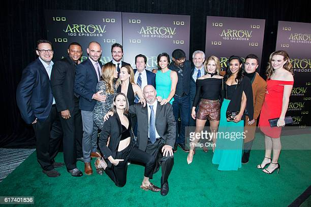 Executive producer Andrew Kreisberg actors David Ramsey Paul Blackthorne Katie Cassidy Willa Holland Stephen Amell Caity Lotz President and Chief...