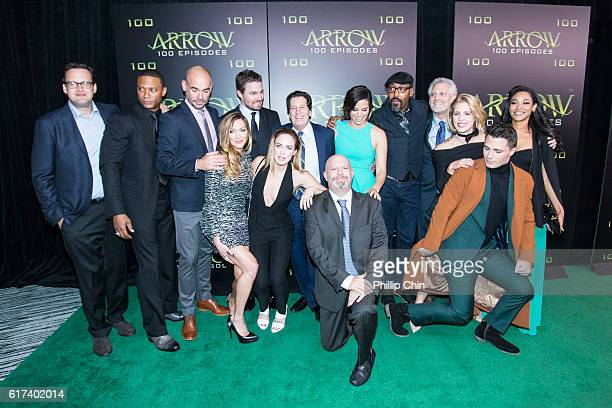 Executive producer Andrew Kreisberg actors David Ramsey Paul Blackthorne Katie Cassidy Stephen Amell Caity Lotz President and Chief Content Officer...