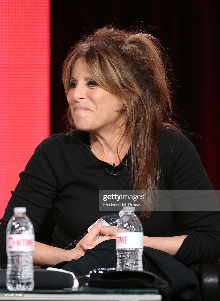 Executive Producer Ann Biderman of 'Ray Donovan' speaks onstage during the Showtime portion of the 2013 Winter TCA Tour at Langham Hotel on January 12, 2013 in Pasadena, California.