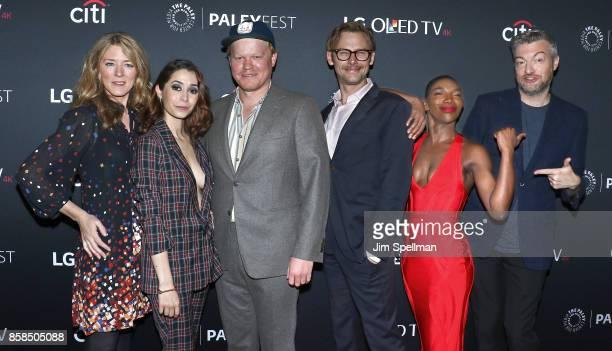 Executive producer Annabel Jones actors Cristin Milioti Jesse Plemons Jimmi Simpson Michaela Coel and creator/executive producer Charlie Brooker...