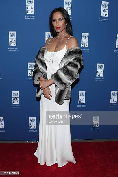 Executive Producer author and host Padma Lakshmi attends the United Nations Development Programme Inaugural Global Goals Gala A Night for Change at...