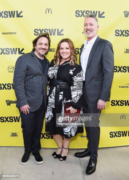 Executive Producer Ben Falcone his wife actress Melissa McCarthy and Executive Producer Michael McDonald attend the 'Nobodies' premiere during 2017...