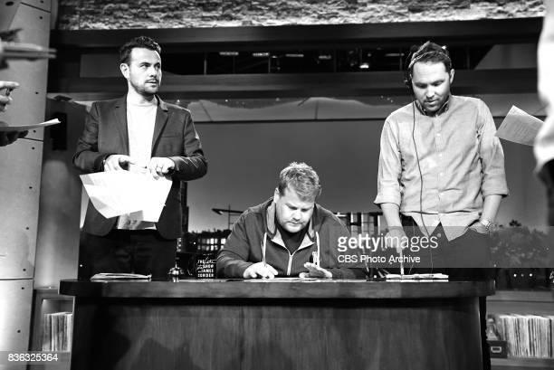 Executive Producer Ben Winston James Corden Executive Producer Rob Crabbe during 'The Late Late Show with James Corden' Thursday August 10 2017 On...
