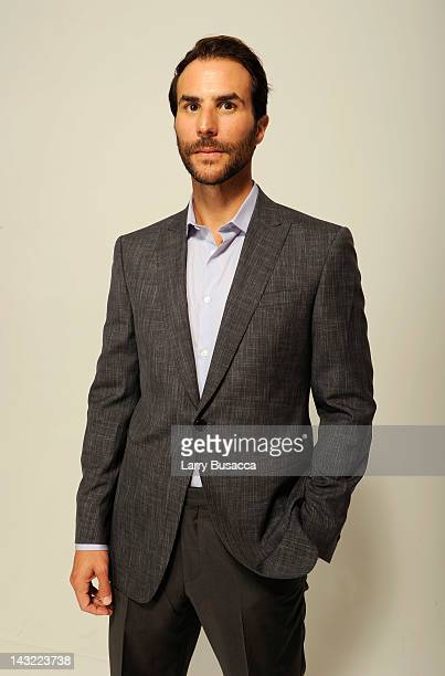 Executive producer Benjamin Silverman of the film 'Mansome' visits the Tribeca Film Festival 2012 portrait studio at the Cadillac Tribeca Press...