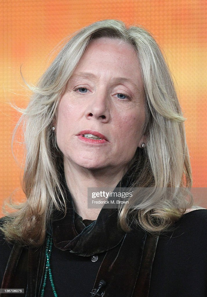 Executive Producer Betsy Beers speaks during the 'Scandal' panel during the ABC portion of the 2012 Winter TCA Tour held at The Langham Huntington Hotel and Spa on January 10, 2012 in Pasadena, California.