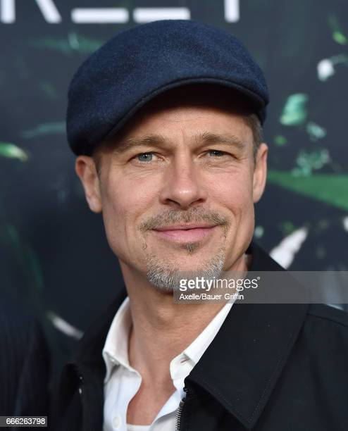 Executive producer Brad Pitt arrives at the Premiere of Amazon Studios' 'The Lost City of Z' at ArcLight Hollywood on April 5 2017 in Hollywood...