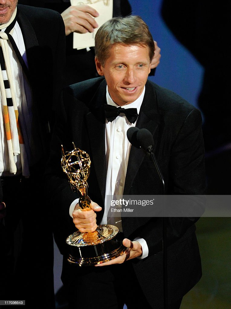 Executive producer <a gi-track='captionPersonalityLinkClicked' href=/galleries/search?phrase=Bradley+Bell&family=editorial&specificpeople=627792 ng-click='$event.stopPropagation()'>Bradley Bell</a> accepts the Outstanding Drama Series award for 'The Bold and the Beautiful' onstage during the 38th Annual Daytime Entertainment Emmy Awards held at the Las Vegas Hilton on June 19, 2011 in Las Vegas, Nevada.