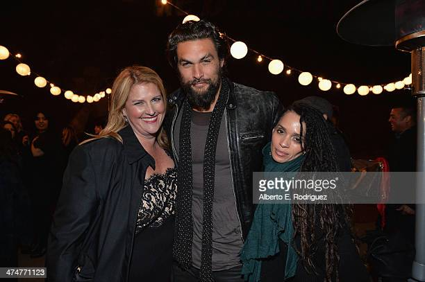 Executive Producer Bridget Carpenter actor Jason Momoa and actress Lisa Bonet attend a screening of Sundance Channel's 'The Red Road' at The Bronson...