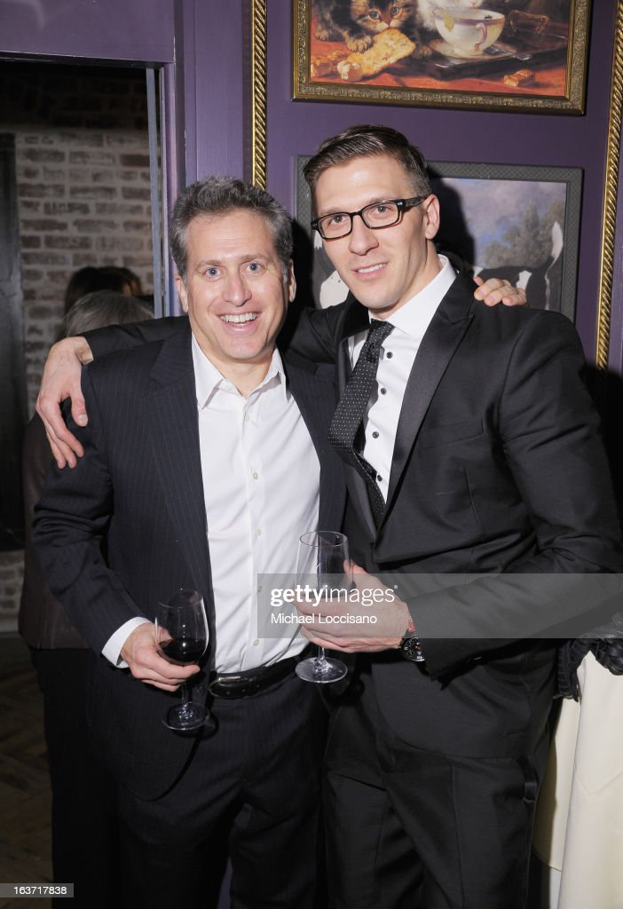 Executive Producer Bruce David Klein (L) and castmembers Derek Koch attend the 'Playing With Fire' premiere after party at Chateau Cherbuliez on March 14, 2013 in New York City.