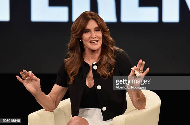 Executive Producer Caitlyn Jenner speaks at the AOL 2016 MAKERS conference at Terranea Resort on February 2 2016 in Rancho Palos Verdes California