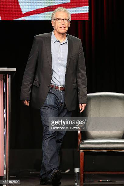 Executive producer Carlton Cuse speaks onstage at 'The Strain' panel during the FX Networks portion of the 2014 Summer Television Critics Association...