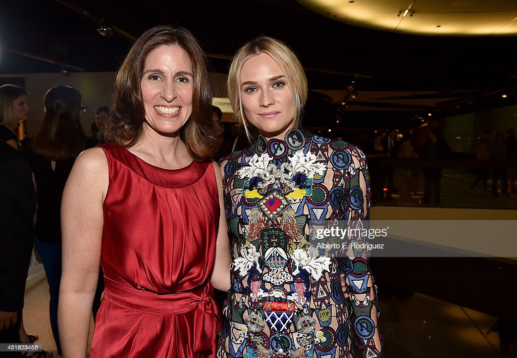 Executive Producer Carolyn Bernstein (L) and actress <a gi-track='captionPersonalityLinkClicked' href=/galleries/search?phrase=Diane+Kruger&family=editorial&specificpeople=202640 ng-click='$event.stopPropagation()'>Diane Kruger</a> attend the premiere of FX's 'The Bridge' at Pacific Design Center on July 7, 2014 in West Hollywood, California.