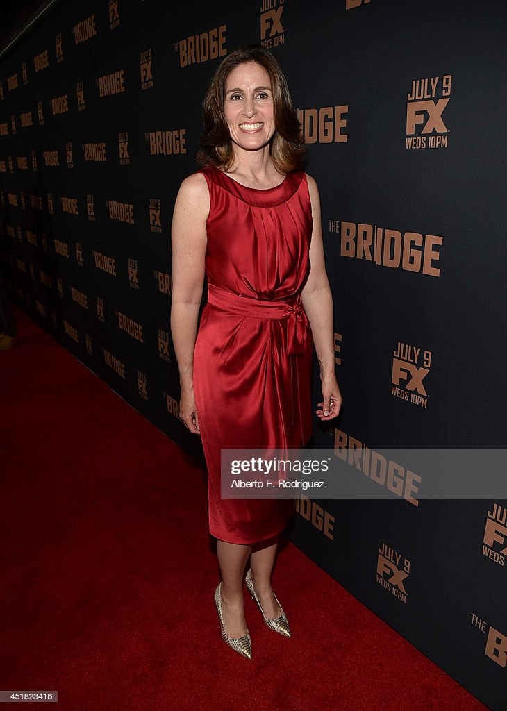 Executive Producer Carolyn Bernstein attends the premiere of FX's 'The Bridge' at Pacific Design Center on July 7, 2014 in West Hollywood, California.