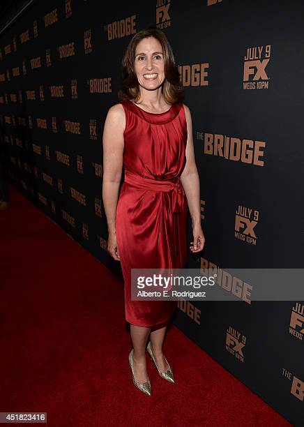 Executive Producer Carolyn Bernstein attends the premiere of FX's 'The Bridge' at Pacific Design Center on July 7 2014 in West Hollywood California