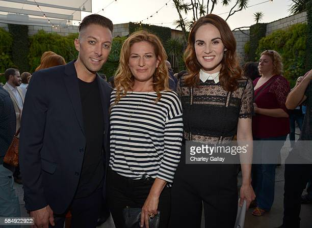Executive producer Chad Hodge actress Ana Gastayer and actress Michelle Dockery attend the TCA Turner Summer Press Tour Dinner at SmogShoppe on July...