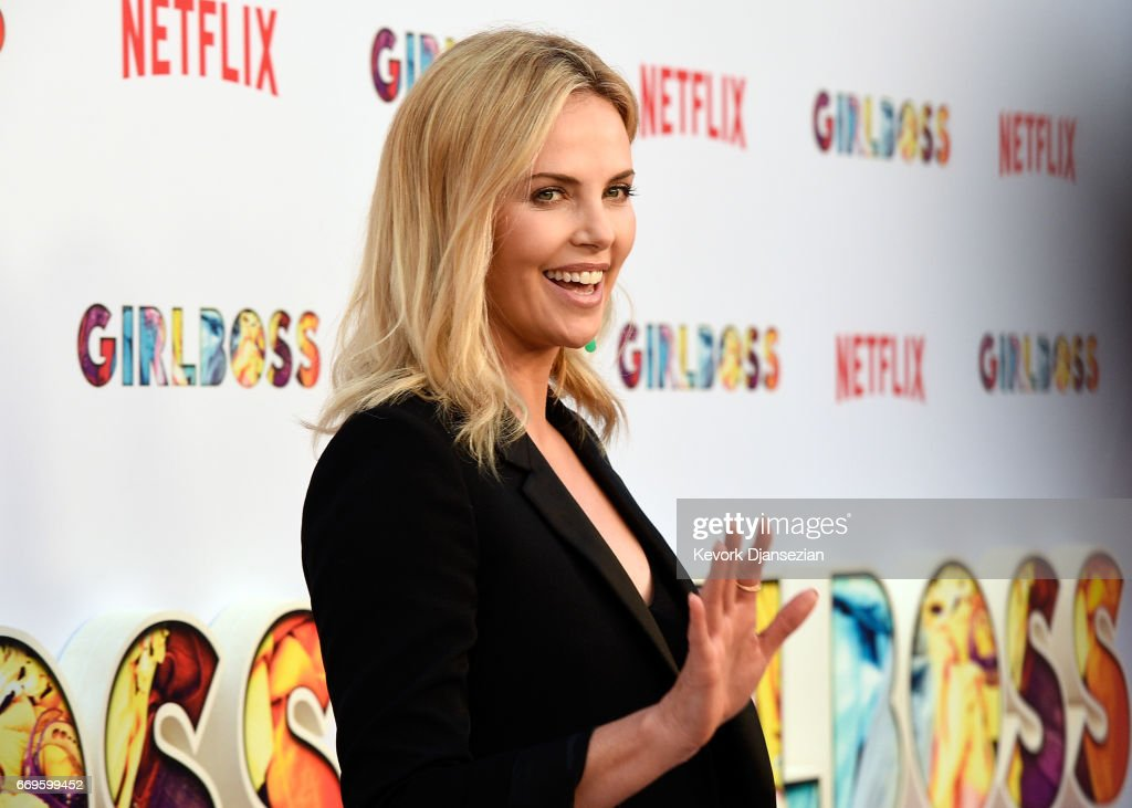 Executive producer Charlize Theron attends the premiere of Netflix's 'Girlboss' at ArcLight Cinemas on April 17, 2017 in Hollywood, California.