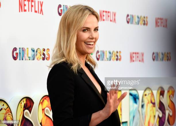 Executive producer Charlize Theron attends the premiere of Netflix's 'Girlboss' at ArcLight Cinemas on April 17 2017 in Hollywood California