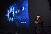 Executive producer Chris Carter speaks at the premiere of Fox's 'The XFiles' at California Science Center on January 12 2016 in Los Angeles California