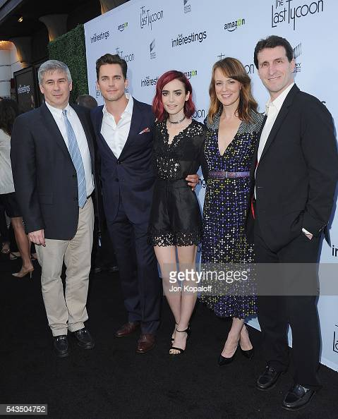 Executive producer Chris Keyser Matt Bomer Lily Collins Rosemarie DeWitt and writer/director Billy Ray arrive at Sony Pictures Television Social...