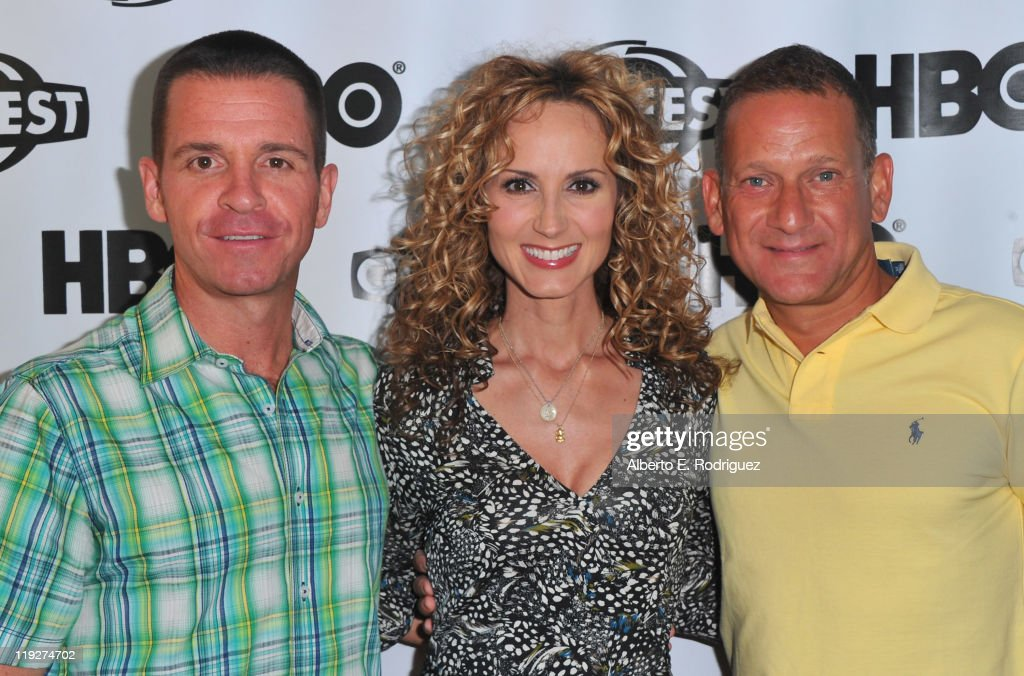 Executive producer Chris Taaffe, singer Chely Wright and executive producer Daniel Sladek arrive to the 2011 Outfest Special Screening of 'Wish Me Away' at Directors Guild Of America on July 15, 2011 in Los Angeles, California.