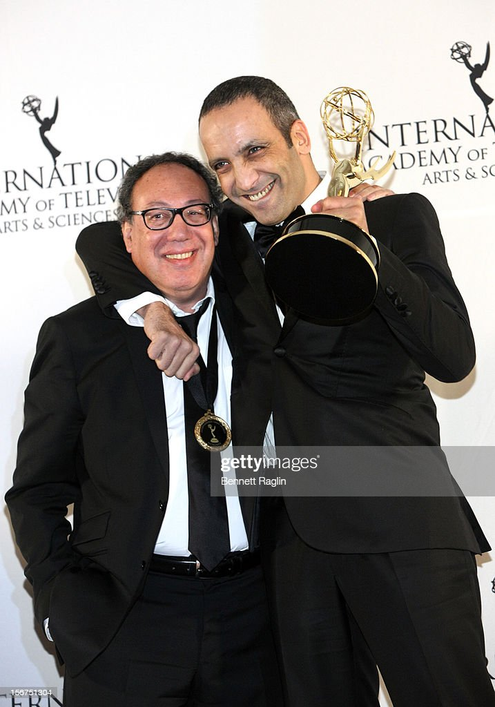 Executive Producer Claude Chilli and Screen Writer Abdel Raouf attend the 40th Annual International Emmy Awards at the Hilton New York on November 19, 2012 in New York City.