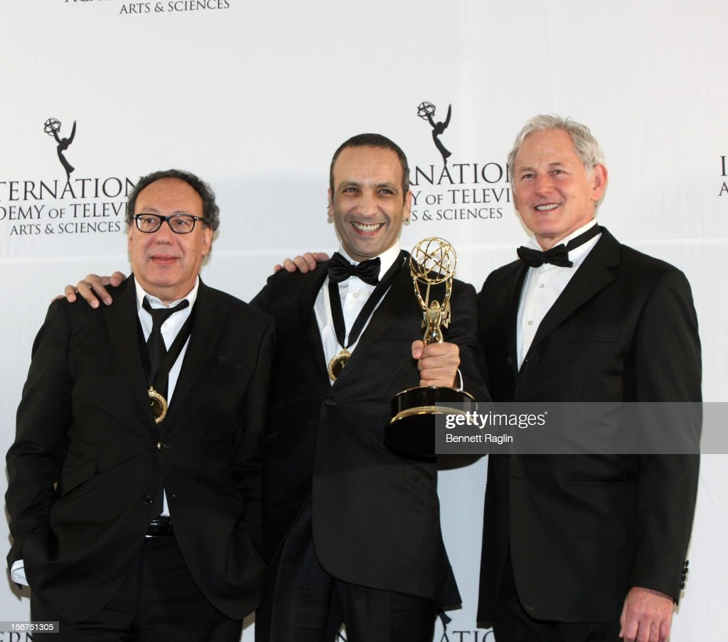 Executive Producer Claude Chilli, Screen Writer Abdel Raouf, and Victor Garber attend the 40th Annual International Emmy Awards at the Hilton New York on November 19, 2012 in New York City.
