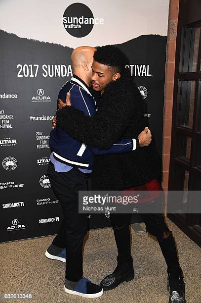 Executive producer Common and Actor Trevor Jackson attend the 'Burning Sands' Premiere at Eccles Center Theatre on January 24 2017 in Park City Utah