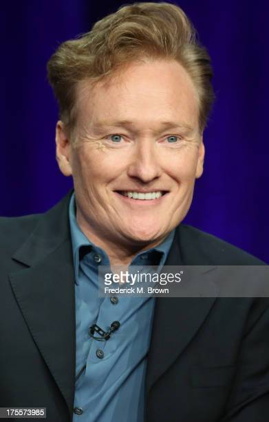 Executive producer Conan O'Brien speaks onstage during the 'Super Fun Night' panel discussion at the Disney/ABC Television Group portion of the...