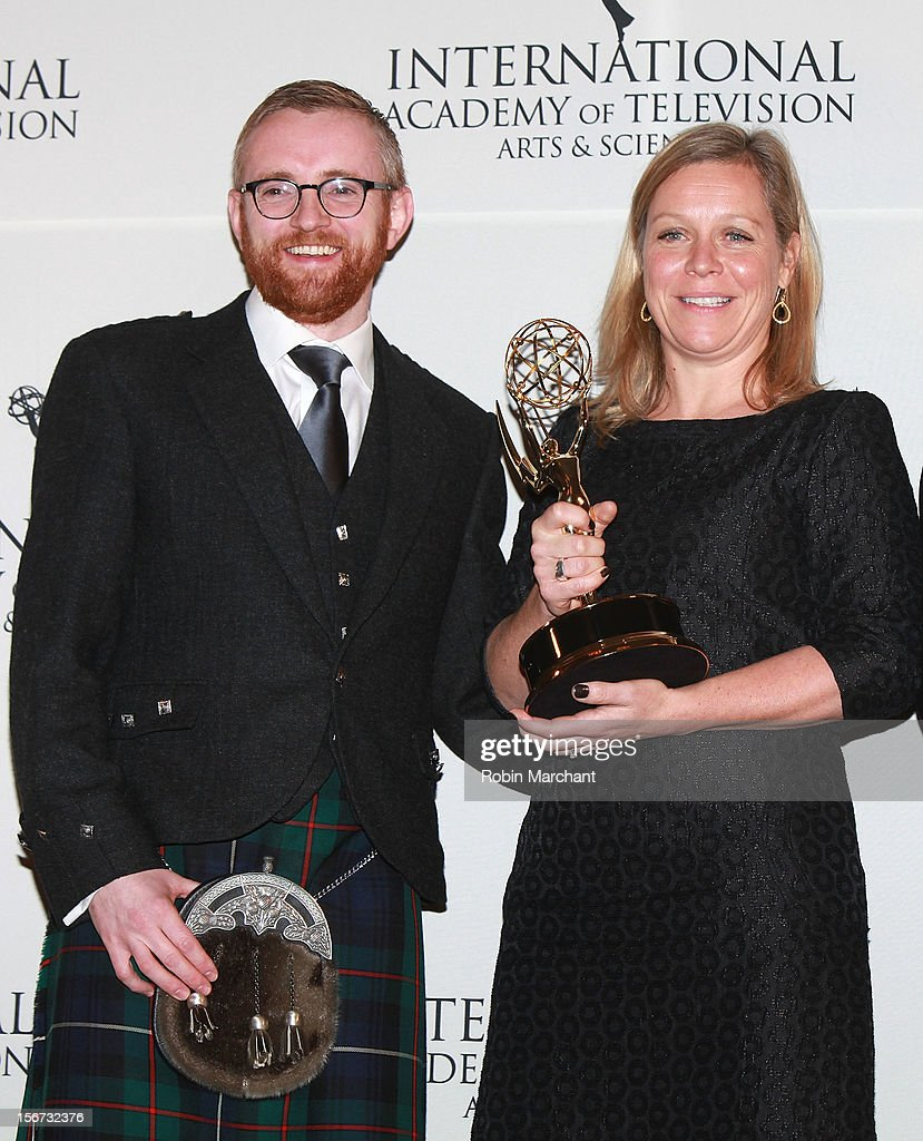 Executive producer Craig Hunter (L) and commissioning editor Charlotte Moore attend the 40th International Emmy Awards on November 19, 2012 in New York City.