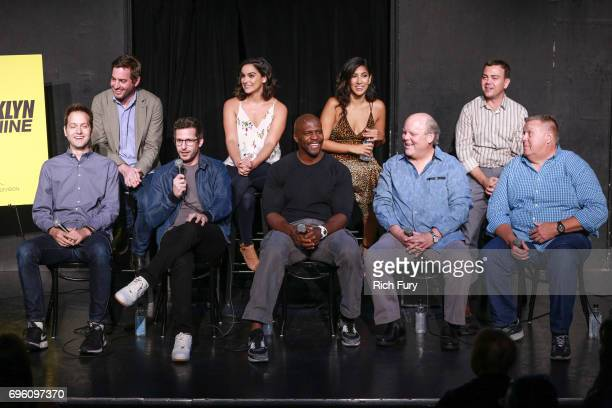Executive Producer Dan Goor Executive Producer Luke Del Tredeci actors Andy Samberg Melissa Fumero Terry Crews Stephanie Beatriz Dirk Blocker Joe Lo...