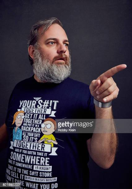 Executive producer Dan Harmon of Adult Swim's 'Rick and Morty' poses for a portrait during ComicCon 2017 at Hard Rock Hotel San Diego on July 22 2017...