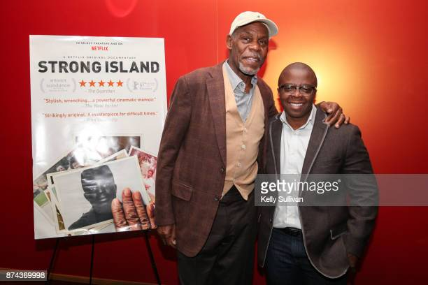 Executive Producer Danny Glover and Director Yance Ford pose for a photo at a special screening of 'Strong Island' at Landmark Embarcadero on...