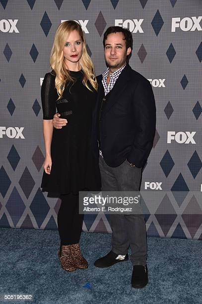 Executive producer Danny Strong and Caitlin Mehner attend the FOX Winter TCA 2016 AllStar Party at The Langham Huntington Hotel and Spa on January 15...