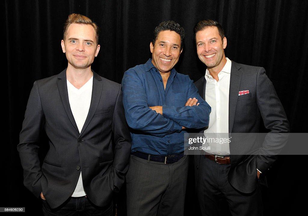 Executive producer David Jenkins actor Oscar Nunez and EVP Original Programming TBS Brett Weitz attend the TCA Turner Summer Press Tour 2016...