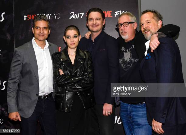 Executive Producer David Levien Actor Asia Kate Dillon actor Toby Leonard Moore Executive Producer Brian Koppelman and actor David Costabile attend...