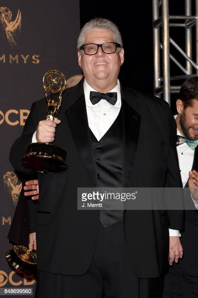 Executive producer David Mandel winner of Outstanding Comedy Series for 'Veep' poses in the press room during the 69th Annual Primetime Emmy Awards...