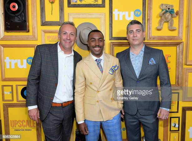 Executive producer DEFY Media Jared Hoffman Creator/Host Prentice Penny and Executive producer DEFY Media Chris Pollack at truTV's 'Upscale with...
