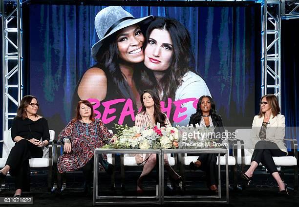 Executive producer Denise Di Novi director Allison Anders actresses Idina Menzel and Nia Long and executive producer Alison Greenspan of the series...
