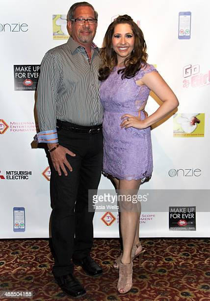 Executive Producer Elliot Plotkin and actress/Liv Out Loud creator Ashley Gianni pose for portrait at Premiere Party For 'Liv Out Loud' at Akbar on...