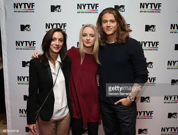 Executive Producer Emily Whitesell and actors Anna Jacoby Heron and Alex Saxon attend the New York Television Festival panel 'Teenage Wasteland...