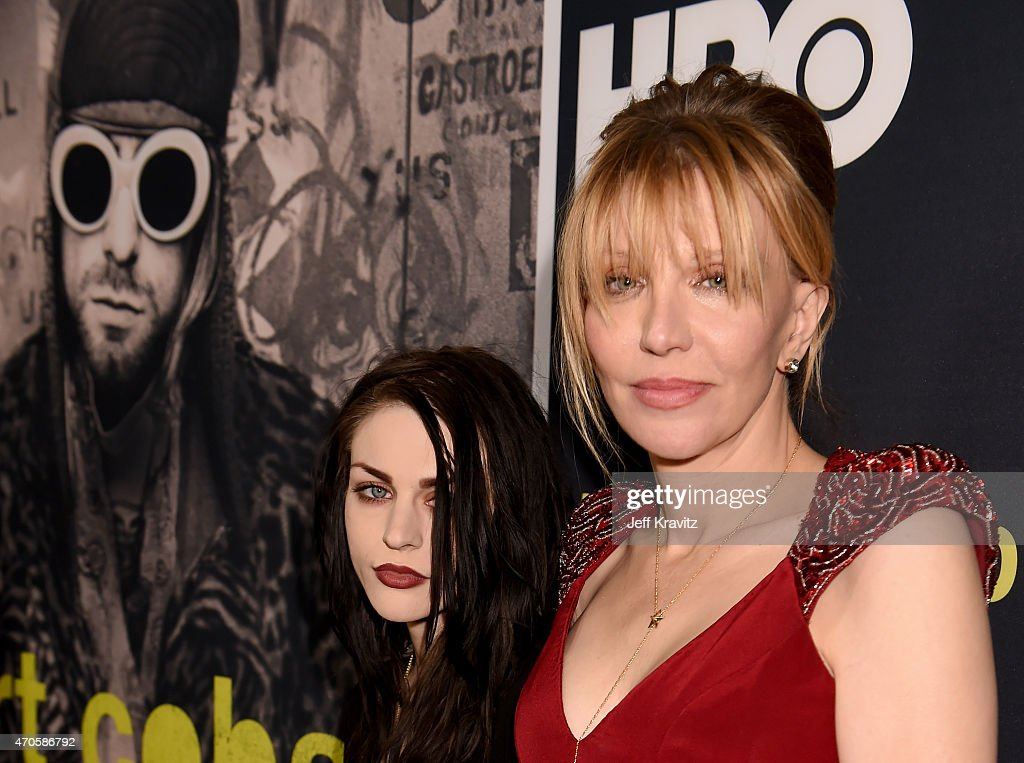 Executive Producer Frances Bean Cobain (L) and singer/songwriter/actress Courtney Love attend HBO's 'Kurt Cobain: Montage Of Heck' Los Angeles Premiere at the Egyptian Theatre on April 21, 2015 in Hollywood, California.