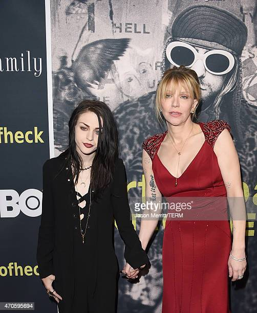 Executive Producer Frances Bean Cobain and singer/songwriter/actress Courtney Love attends HBO's 'Kurt Cobain Montage Of Heck' Los Angeles Premiere...