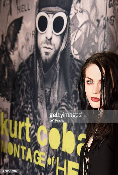 Executive Producer Frances Bean Cobain attends HBO's 'Kurt Cobain Montage Of Heck' Los Angeles Premiere at the Egyptian Theatre on April 21 2015 in...
